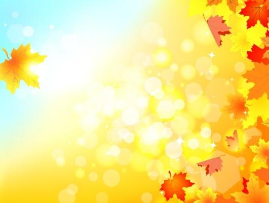 Shiny Autumn Maple Leaf Background Vector 01