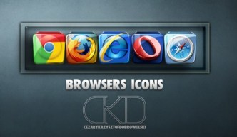 Glossy Crystal Browsers Icons