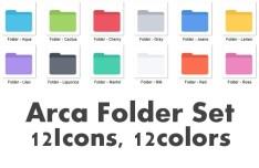 Arca Flat Folder Icon Set