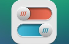 Colored Plastic Toggle Buttons PSD