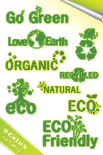 ECO Friendly Green Symbol Set Vector 05