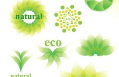ECO Friendly Green Symbol Set Vector 06