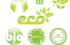 ECO Friendly Green Symbol Set Vector 08