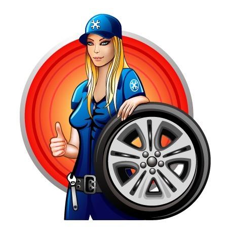 Female Auto Mechanic Vector Illustration