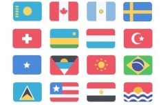 195+ Flat National Flag Icons (PSD Included)