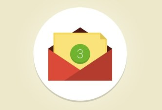 Flat Email Icon with Counter PSD