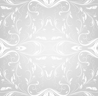 Seamless Bright Grey Classic Floral Pattern Vector