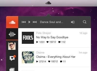 Free SoundCloud Player App UI PSD - TitanUI