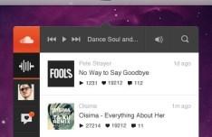 SoundCloud Player App UI PSD