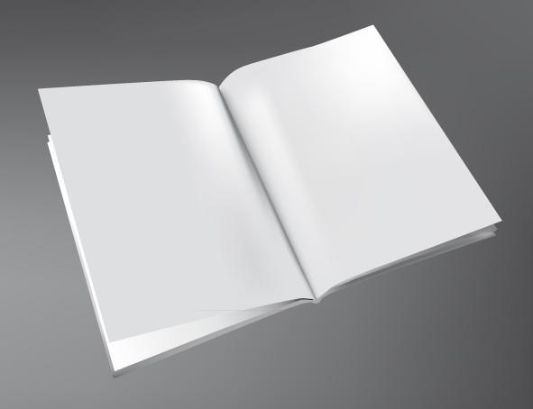 Free Blank Book Mockup Template Vector - TitanUI