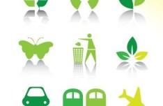 ECO Friendly Green Symbol Set Vector 10