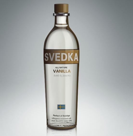 Glossy Bottle PSD
