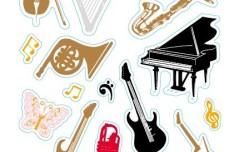 Set Of Musical Instruments Vector Illustraiton