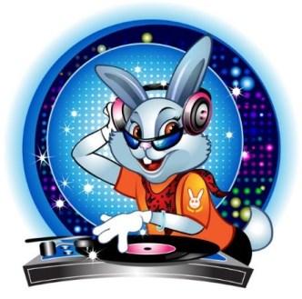 Cute DJ Bunny Illustration Vector