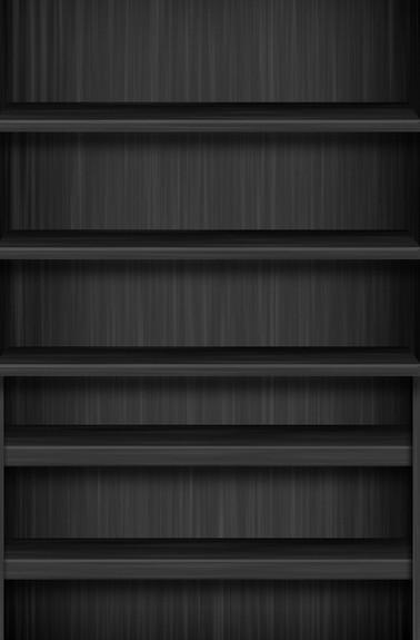 Dark Wood Shelves PSD Mockup