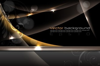 Fashion Dark Abstract Floral Background Vector