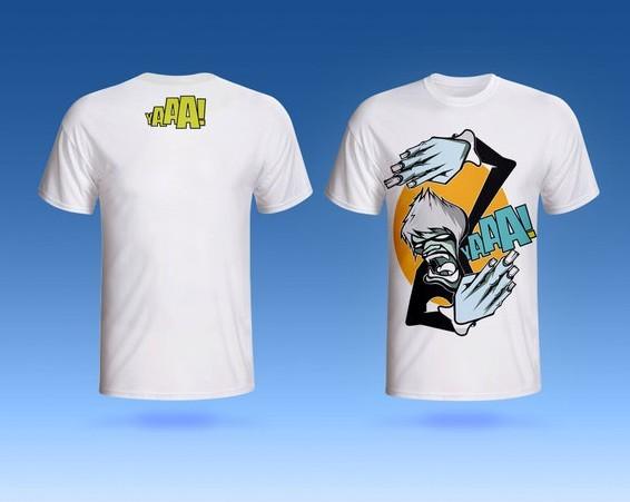 Short-sleeved T-shirt PSD Mockup