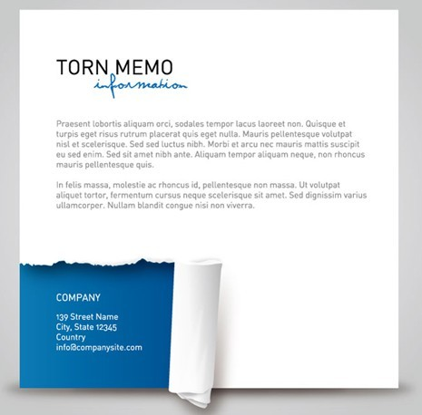 Blue and White Torn Paper Background Vector