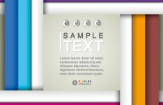 Colored HI-Tech Text Background Vector 02