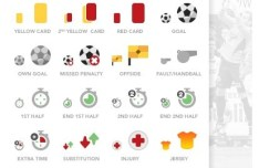 Soccer Icon Set PSD