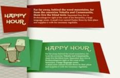 Vintage Happy Tour Drinks Labels 01