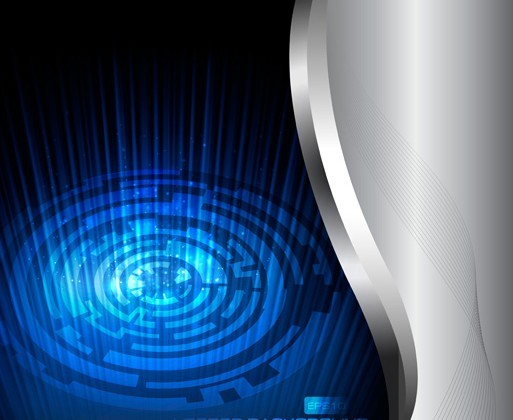 Abstract Metal Neon Blue Background Vector 03