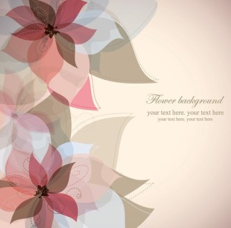 Colorful Watercolor Flower Background Vector 02