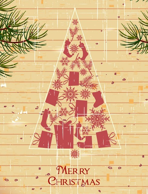 Creative Christmas Tree Design Elements Vector 04