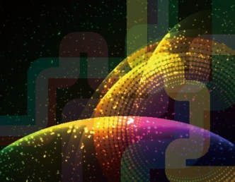 Neon Light Glitter Mosaics Background Vector