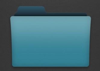 Blank Folder Icon Template PSD