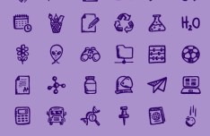 36+ Hand Drawn Education and Science Icons (Multi Formats)