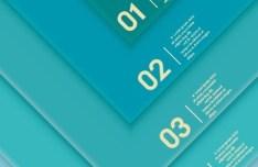 Creative Infographic Number Label Design Vector 01