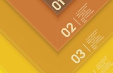 Creative Infographic Number Label Design Vector 03