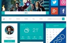 Flat Avengers Web UI Kit PSD