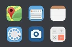 6 Random Flat Icons PSD