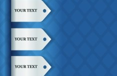 Creative Corner Labels With Blue Mesh Background Vector 01