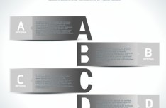 Grey Paper Alphabet Labels Vector