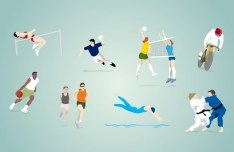 Vector Illustration Of Olympic Sports