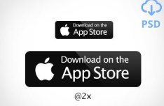 Dark Download On The App Store Button PSD