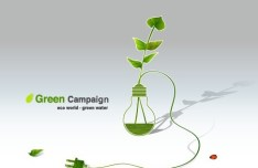 Green ECO World Campaign Green Water Vector Illustration 02