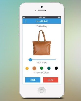 Product Detail UI For Mobile PSD