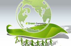 Green ECO World Campaign Green Earth Vector