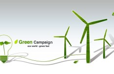 Green ECO World Campaign Green Fuel Vector 02