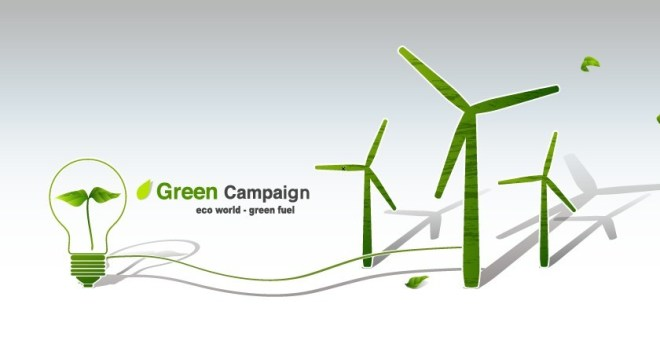 Green ECO World Campaign Green Fuel Vector 02