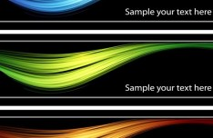 Set Of Vector Dark Banners with Bright Light Backgrounds 01