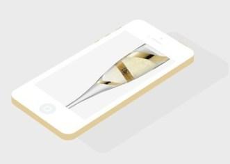 Flat Champagne iPhone 5S PSD Mockup