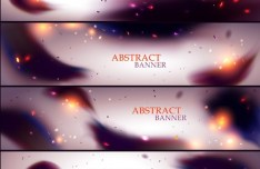 Set Of Vector Blurred Abstract Smoke Background 01
