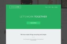 Light Green Flat Web Template PSD
