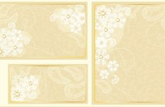 Set of Vector Sweet Champagne Cards with Flowers Backgrounds 02