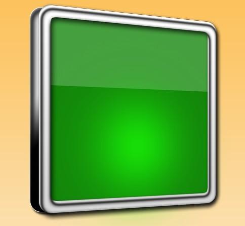 3D Green Box with Metal Border PSD Mockup
